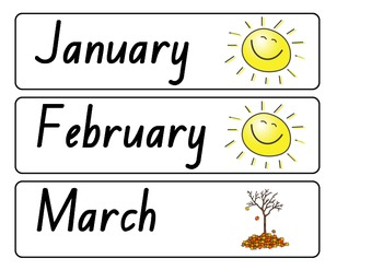 Day, Date & Month Labels