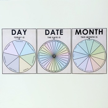 Day, Date, Month circles.
