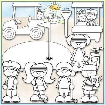 Day For Golfing - CU Clip Art & B&W Set