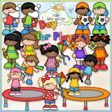 Day For Play - CU Clip Art & B&W Set