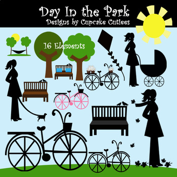 Day In The Park  Digital Clip Art Elements