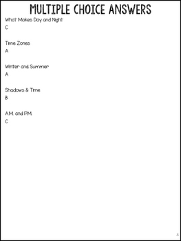 Day & Night Science Articles: Time Zones, Seasons, Shadows & Time, & A.M./P.M.