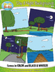Day & Night Themed Background Scenes Clip Art Set — Includ