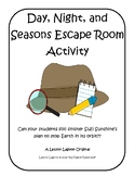Science - Day, Night, and Seasons Escape Room Activity