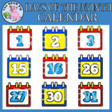 Days Of The Month Calendar Clipart
