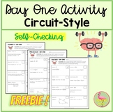 Day One Circuit-Style Activity Freebie