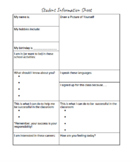 Day One Student Information Sheet