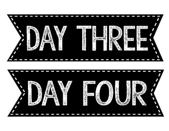 Day One, Two, Three and Four Labels