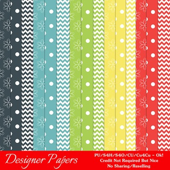 Day Outside Colors Patterns Digital Papers