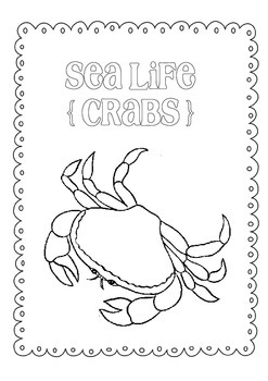 Day Packet - Crab { Sea Life } freebie