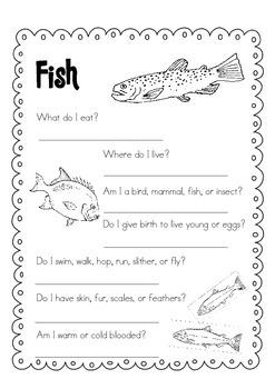 Day Packet - Fish { Sea Life } freebie