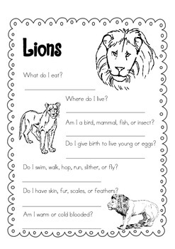 Day Packet - Lion { freebie }