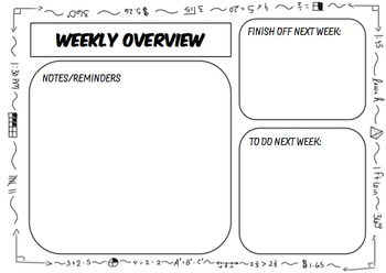 Day Plan Overview Monday-Friday