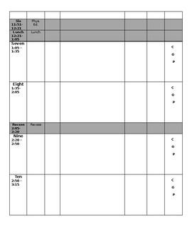 Day Plan Template - Editable