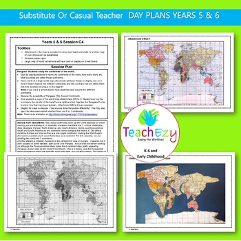 Bundled Lesson Plans for Grades 5 & 6 - 1 Whole Week