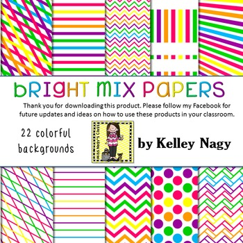 Bright Mix Digital Papers