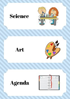 Day Schedule Cards Blue