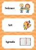 Day Schedule Cards Orange