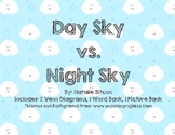 Day Sky VS. Night Sky Venn Diagram with Word Bank and Picture Bank