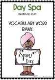 Day Spa Vocab Word Bank