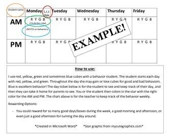 Day Ticket Behavior Plan