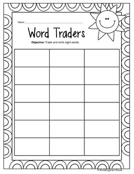 Day Traders: A Multi-Sensory Sight Word Game