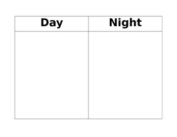 Day and Night Animal Sort