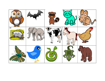 Day and Night Animal Sort