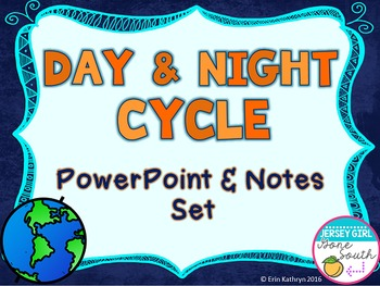 Day and Night Cycle PowerPoint and Notes Set