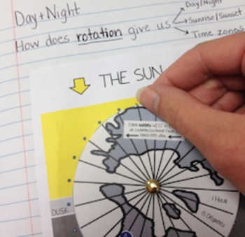 Day and Night Earth's Rotation Activity