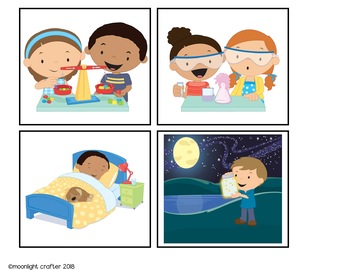 Day and Night Emergent Readers and Mini Literacy Set