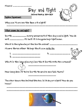 science worksheets day and night science best free printable worksheets. Black Bedroom Furniture Sets. Home Design Ideas