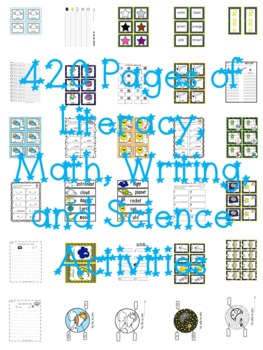 Day and Night Literacy, Math, Writing, Science MEGA Unit