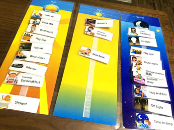 Set of 3: Day and Night Schedule Board