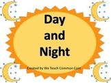 Day and Night Science Center Activity for Whole Group or Small Group