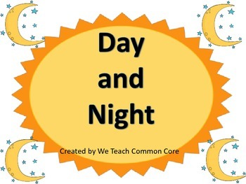 Day and Night Science Center Activity for Whole Group or S