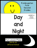 Day and Night Science Unit  Lesson Plans Kindergarten First Second Grade Week 2