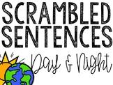 Day and Night Scrambled Sentences