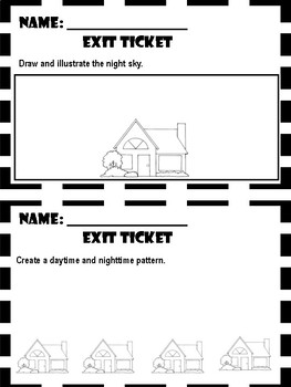 Day and Night Sky - Exit Tickets