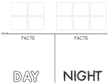 Day and Night Sky Picture Sort (Foldable) - Science