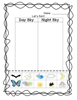 Day and Night Sky Sort