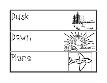 Day and Night Sky Vocabulary Cards/Write The Room