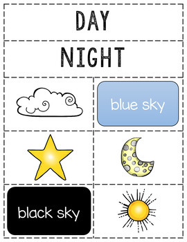 Day and Night Sorting Activity - Perfect for a Science Interactive Notebook!
