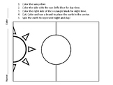 Day and Night, Sun and Moon craft, t-chart, picture cards