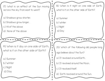 Day and Night Task Cards {Scoot}