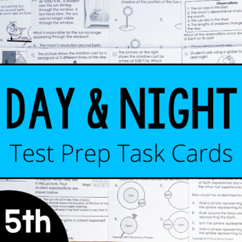 Day and Night Test Prep Task Cards