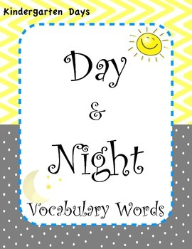 Day and Night Vocabulary Words