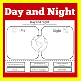 Day and Night Worksheet   Day and Night Science   Day and Night Activity