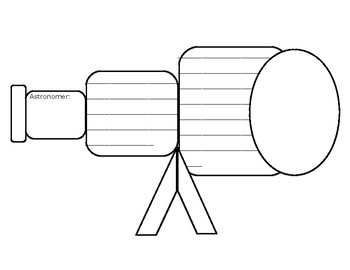 """Day and Nighttime Sky """"Telescope-Shaped"""" Writing Document"""