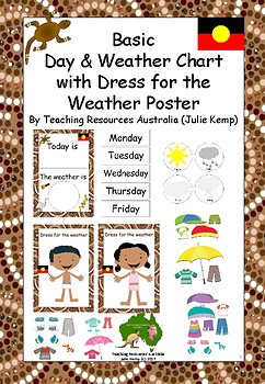 Day and Weather Chart with an Aboriginal Theme